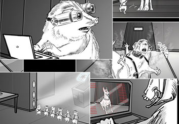 Eddy Mayer's Animation storyboard art