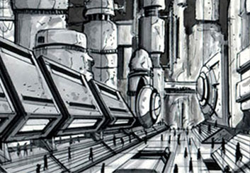 Eddy Mayer's Environments storyboard art