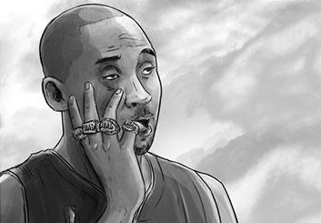 Eddy Mayer's People - B&W Tone storyboard art