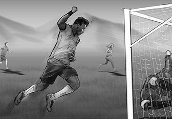 Eddy Mayer's Sports storyboard art
