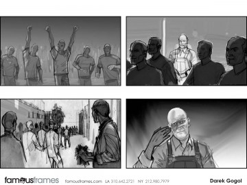 Darek Gogol*'s People - B&W Tone storyboard art