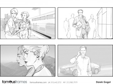 Darek Gogol*'s People - B&W Line storyboard art