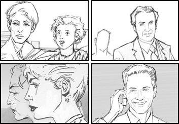 Darek Gogol*'s People - B&W Line storyboard art