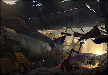Jonathan Chung's Concept Environments storyboard art