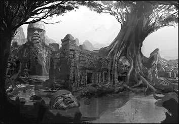 Jonathan Chung's Environments storyboard art