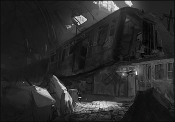 Jonathan Chung's Conceptual Elements storyboard art