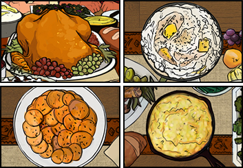 Jonathan Chung's Food storyboard art