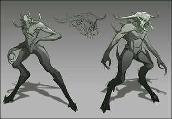 Jonathan Chung's Characters / Creatures storyboard art
