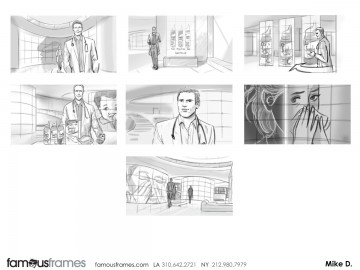 Michael DeWeese's People - B&W Tone storyboard art