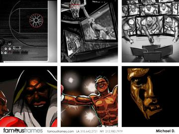 Michael DeWeese's Sports storyboard art