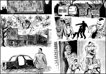 Michael DeWeese's Comic Book storyboard art