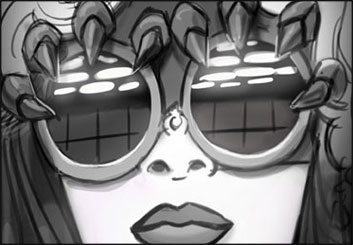 Michael DeWeese's Music Video storyboard art