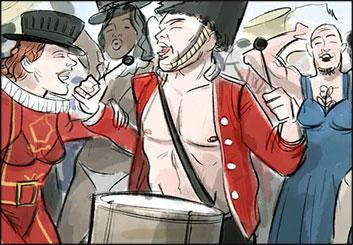 Michael DeWeese's People - Color  storyboard art