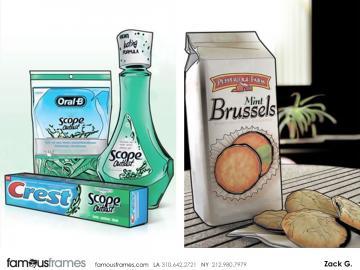 Zack Grossman's Products storyboard art