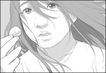 Maria Chou's People - B&W Tone storyboard art