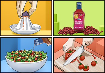 Maria Chou's Food storyboard art