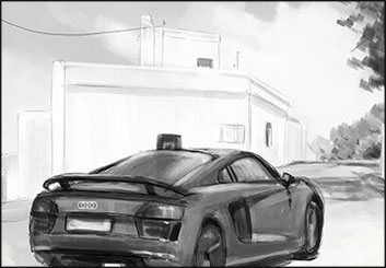 Frankie Smith's Vehicles storyboard art