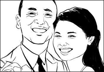 Frankie Smith's People - B&W Line storyboard art