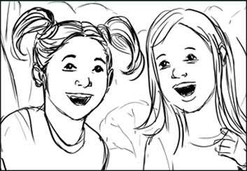 Frankie Smith's Kids storyboard art