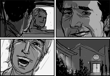 Frankie Smith's Action storyboard art