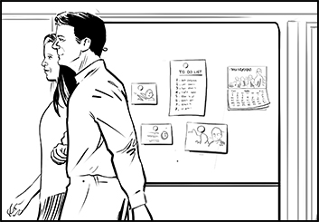 Ed Traquino's People - B&W Line storyboard art