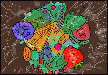 Ed Traquino's Food storyboard art