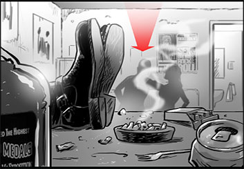 Ed Traquino's Shootingboards storyboard art