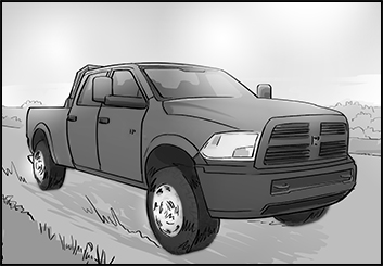 Ed Traquino's Vehicles storyboard art