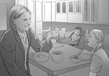 Ed Traquino's People - B&W Tone storyboard art