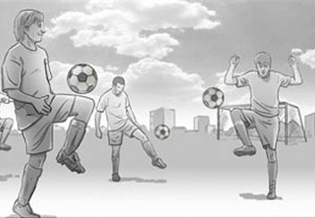 Ed Traquino's Sports storyboard art