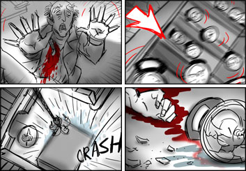 Stefania Gallico's Action storyboard art