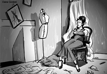 Stefania Gallico's People - B&W Tone storyboard art