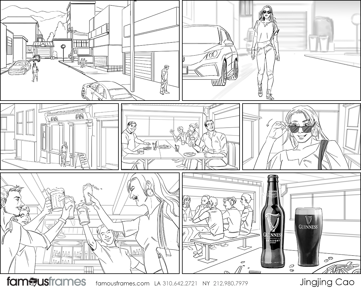 Jingjing Cao's People - B&W Line storyboard art (Image #19827_114_1586395985)