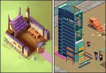 Jingjing Cao's Concept Environments storyboard art