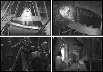 Jingjing Cao's Concept Environments storyboard art