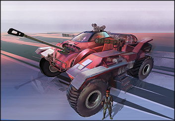 Jingjing Cao's Vehicles storyboard art