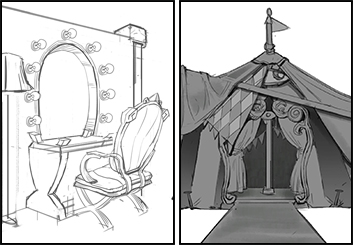 Jingjing Cao's Conceptual Elements storyboard art