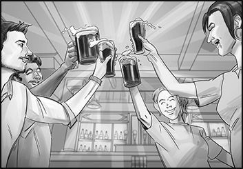 Jingjing Cao's People - B&W Tone storyboard art
