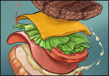 Jingjing Cao's Food storyboard art