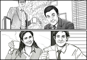 Jingjing Cao's Likenesses storyboard art