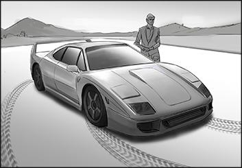 Jingjing Cao's Vehicles storyboard art