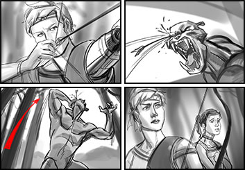 Jingjing Cao's Action storyboard art