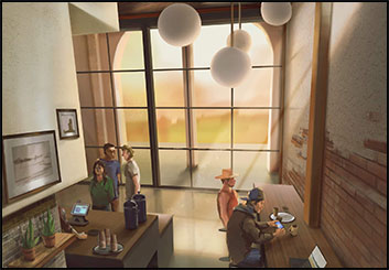 Jingjing Cao's Architectural storyboard art