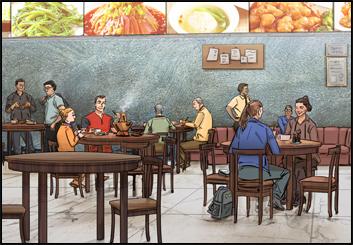 Jingjing Cao's Environments storyboard art