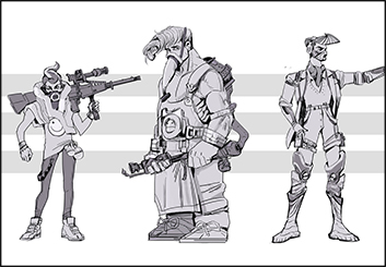 Jingjing Cao's Characters / Creatures storyboard art
