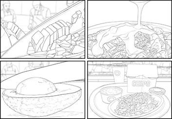 Alex Lanier's Food storyboard art
