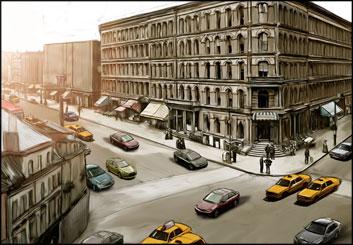 Alex Lanier's Environments storyboard art