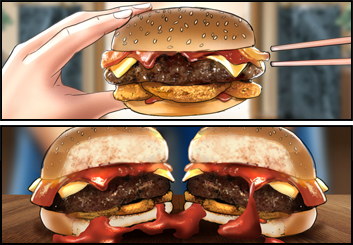 James Randolph*'s Food storyboard art