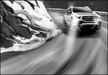 James Randolph*'s Vehicles storyboard art