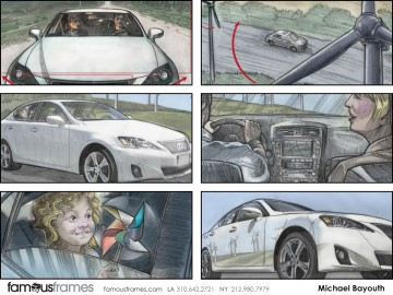 Michael Bayouth*'s Shooting Vehicles storyboard art